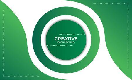 Modern Green Creative Background