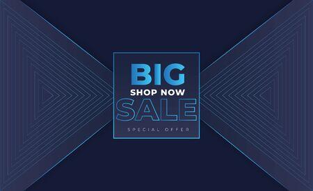 big sale promotion in envelope style Stock Illustratie