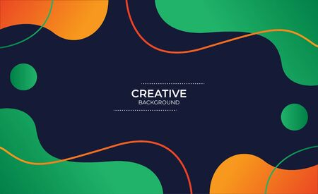 creative background with liquid and line style