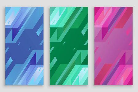 Modern Abstract Geometris Shape Banner Set