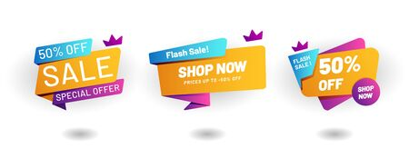 Abstract Flash Sale 50 Off label, Promotion Element - Vector
