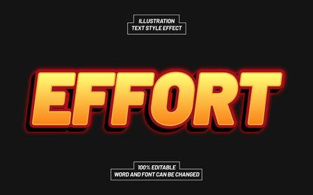 Effort Text Style Effect Ilustração Vetorial