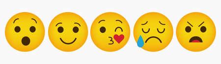 Emoticon Reaction Design Collection Set Stock Illustratie