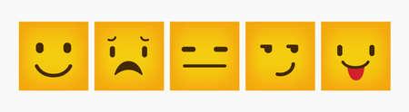 Reaction Design Square Flat Emoticon Set