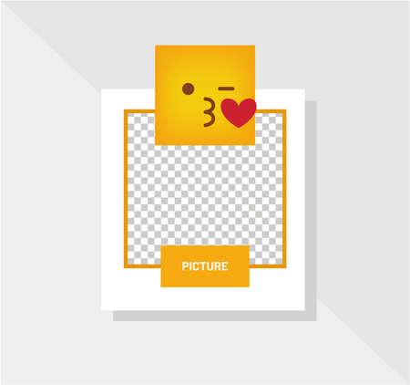 Reaction Emoticon Best Regards Greeting Card Vector Ilustración de vector