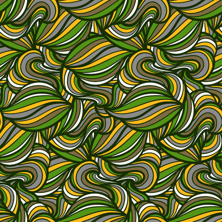 tiling background: Seamless vector wavy background. Curly endless texture. Tiling background with swirls. Illustration