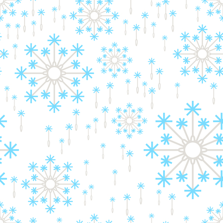 dandelion snow: Seamless floral pattern background. Summer flower texture with fluffy dandelions. Illustration