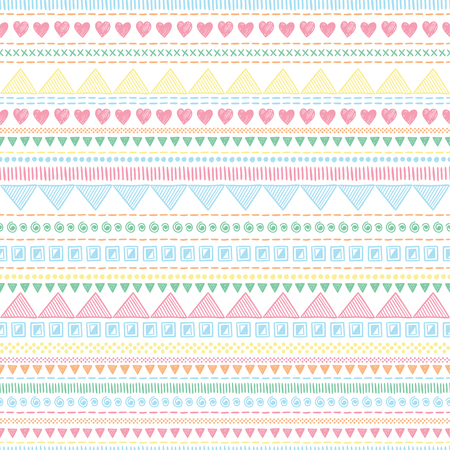 Seamless tribal geometric pattern background. Hand-drawn Aztec creative illustration.