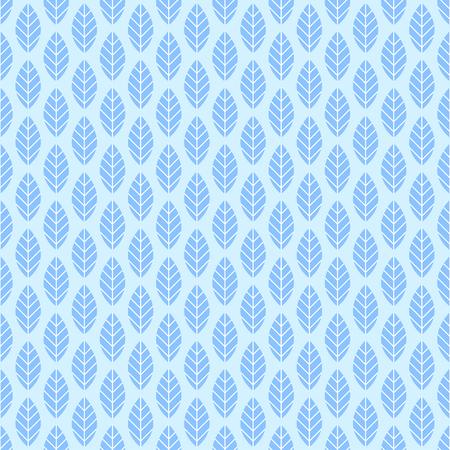Seamless flat leaf pattern. Vector floral background illustration. Illustration