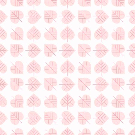 flat leaf: Seamless flat leaf pattern. Vector floral background illustration. Illustration