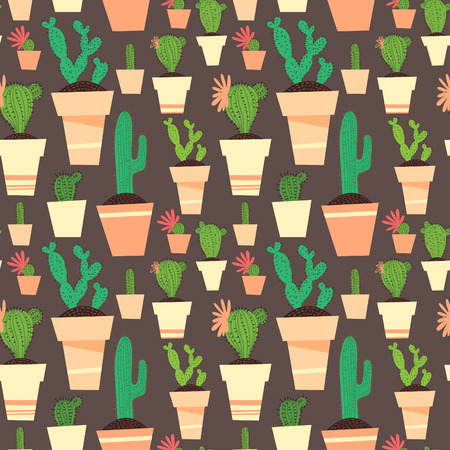 types of cactus: Seamless cactus pattern background.