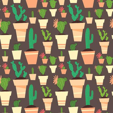 cactus: Seamless cactus pattern background.
