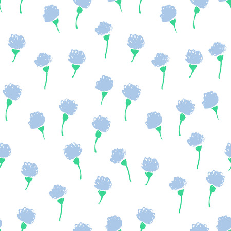 Watercolor summer clover flower pattern. Vector nature seamless background.