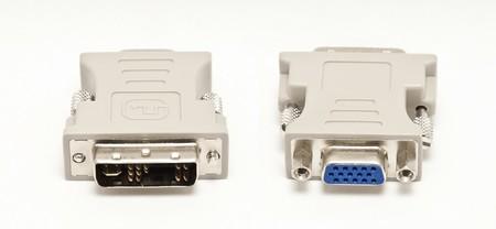 dvi: Computer DVI  VGA adapter isolated on white background
