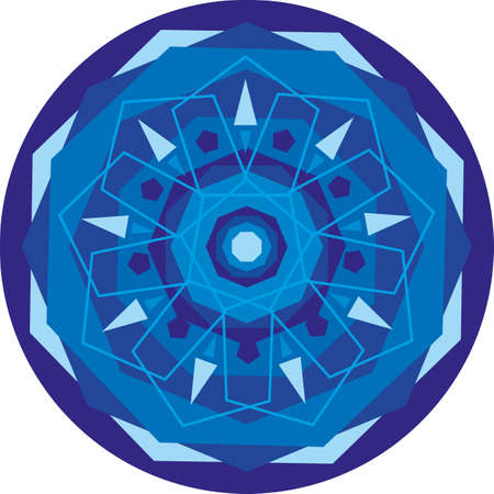 blue circle with a mandala patterns Stock Vector - 13194076