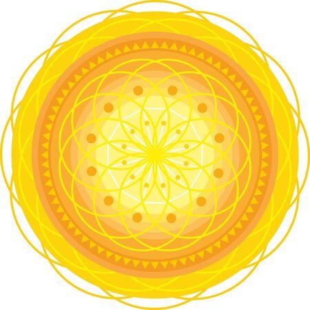 golden circle mandala with ornament Stock Vector - 13194075