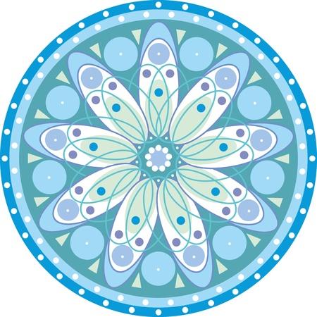 blue circle with a mandala patterns Stock Vector - 13194082