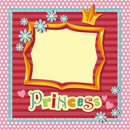 frame in the style of scrapbooking for a princess