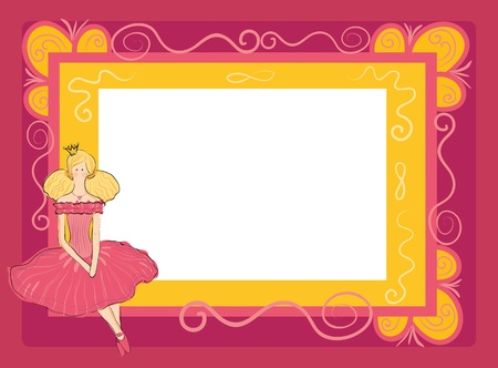 frame in the style of scrap-booking for a princess Stock Vector - 13194092