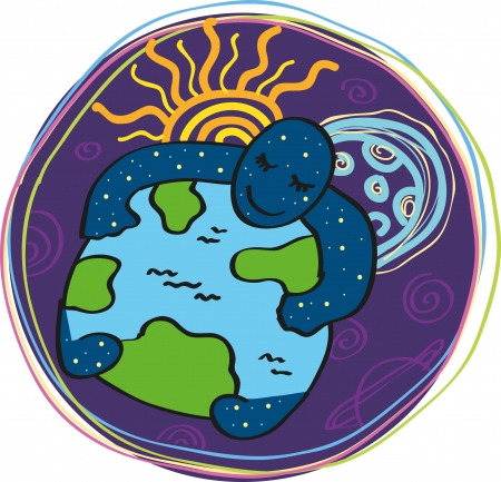 pace: space, sun and moon hugging the ground