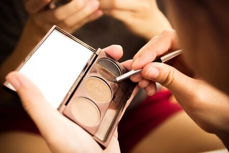 Woman makeup Stock Photo