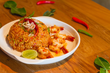 combination: Fried rice with seafood combination