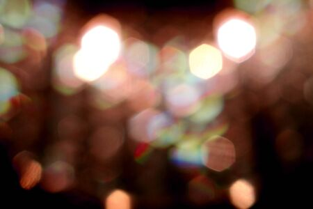 The light from the chandelier, Bokeh from chandelier lighting, Red bokeh, Colorful light