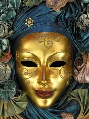 An ornate venetian face mask Stock Photo