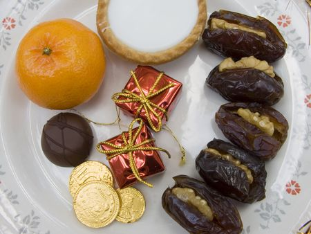 Christmas snack foods Stock Photo