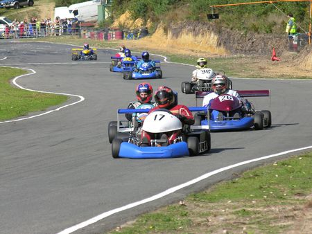 A group of racing go karts.