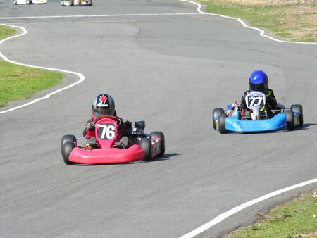 Two racing cadet go karts