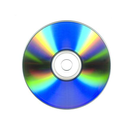 recordable: A blank recordable cdrom Stock Photo