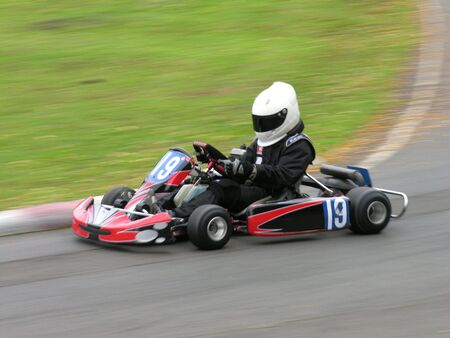 A speeding go kart.