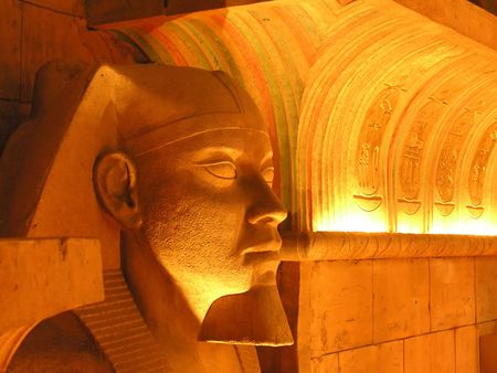 Inside an egyptian tomb