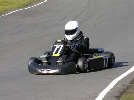 A black racing go kart. Stock Photo