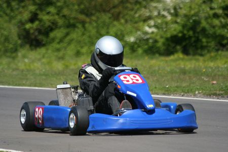 A speeding go-kart. Stock Photo