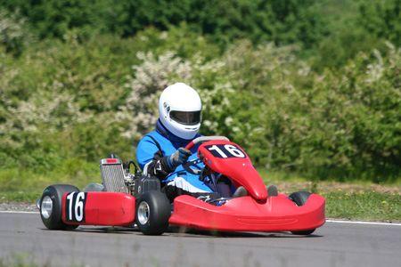 carting: A racing go-kart