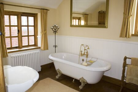 A luxury traditional bathroom