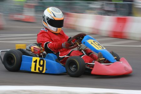 Speeding go kart