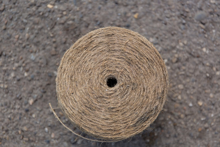snugly: coil of rope gray