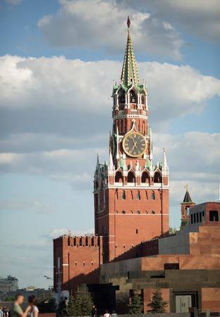 spasskaya: Moscow, Spasskaya Tower of the Kremlin on Red Square Editorial