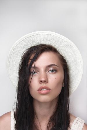 Girl White Hat