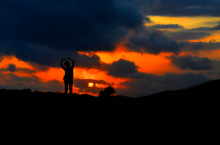 northern spain: sunset in the mountain