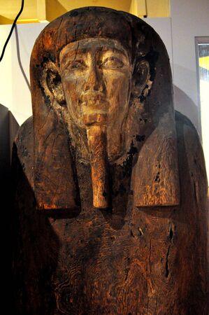 mummification: Wooden Sarcophagus Stock Photo