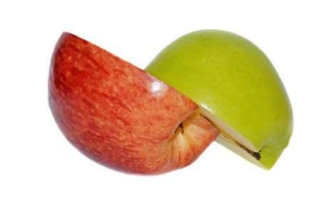 halved: Halved apples