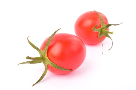 Cherry tomatoes on a white background Stock Photo - 13181232