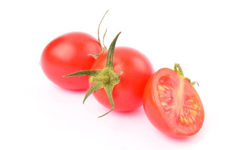 Cherry tomatoes on a white background Stock Photo - 13181231