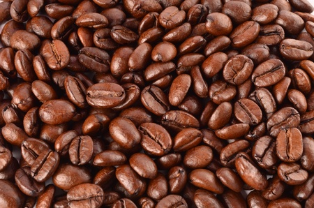 Coffee beans close-up Stock Photo