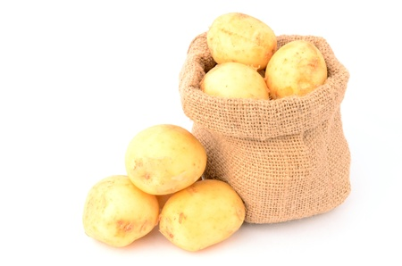 Potatoes on a white background photo