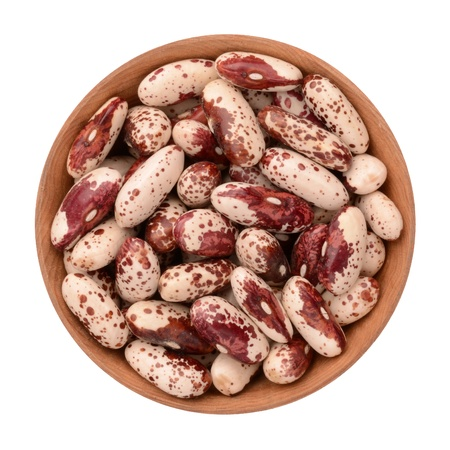 haricot bean on a white background photo